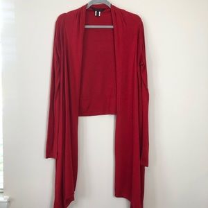BCBG Red Cardigan